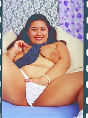 Sexy fat girl playing naughty games with her toys